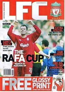 LFC Liverpool football magazine No 185 Feb 2006 HARRY KEWELL poster