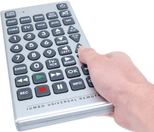 PrimeTrendz TM Universal Jumbo Remote Control TV-DVD-Cable It's Huge! (Vision Remote Control compare prices)