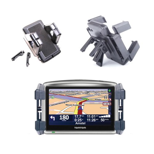 DURAGADGET Heating Vent Rotating Cradle For TomTom One XL Classic & GO LIVE Top Gear Edition