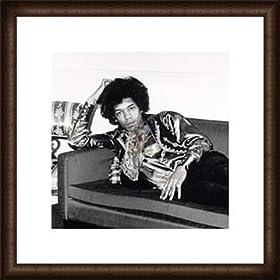 �|�X�^�[ �t�H�g�O���t Jimi Hendrix London England 1967 �z���i �E�b�h�n�C�O���[�h�t���[��(�I�[�N)