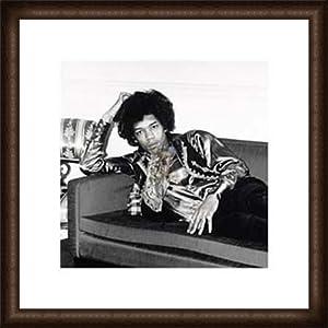 ポスター フォトグラフ Jimi Hendrix London England 1967 額装品 ウッドハイグレードフレーム(オーク)