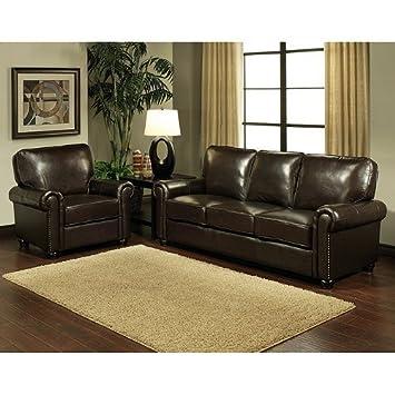 Top Grain Leather Sofa and Armchair