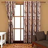 Ab home decor Polyester Window Curtains (Set of 2)- 5 Feet x 4 Feet,Coffee