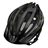 Carrera E0453 Hillborne 2 MTB Helmet with Rear Light - Matt Black/Silver, 58-62 cm