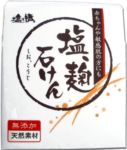 ダイム 塩の精無添加塩、麹石けん 80g