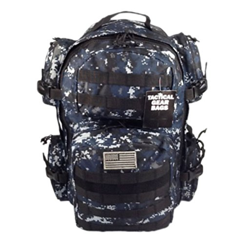 NPUSA Men's Large Expandable Tactical Molle Hydration ReadyBackpack Daypack Bag - ACU Navy Digital Camo (Acu Digital Bag compare prices)