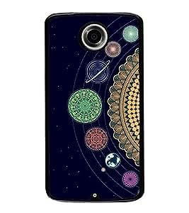 Solar System 2D Hard Polycarbonate Designer Back Case Cover for Motorola Nexus 6 :: Motorola Nexus X :: Motorola Moto X Pro :: Motorola Google Nexus 6