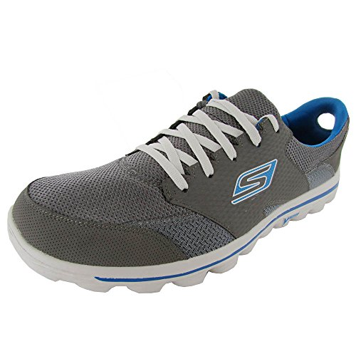 Skechers Men'S Go 2 Stance Walking Shoe,Charcoal/Blue,12 M Us