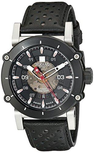 Zodiac-Mens-ZO8570-ZMX-2-Black-Stainless-Steel-Watch-with-Black-Band