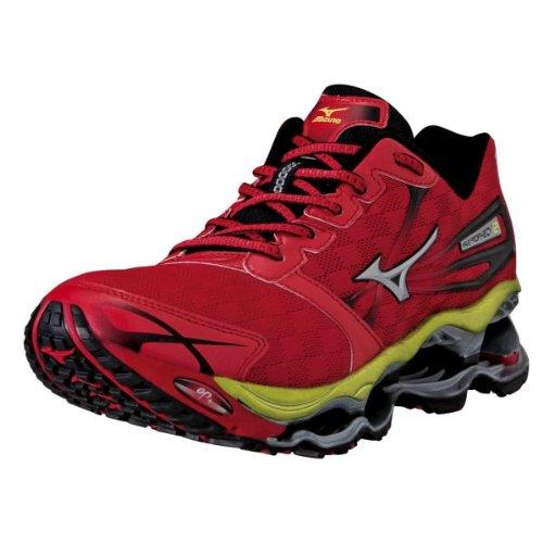 Mizuno Men's Wave Prophecy 2 Running Shoe,Red/Silver/Lime,12 D US (Mizuno Wave Prophecy Red compare prices)