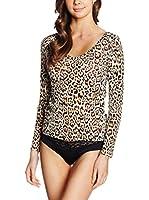 JUST CAVALLI Camiseta Manga Larga (Leopardo)