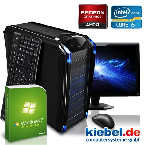 "KCS [184269] - Komplett-Set PC mit 59,9cm (23.6"") TFT: PC Intel i5 3570K Quadcore 4x 3400MHz (Turbo bis 3800MHz) 
