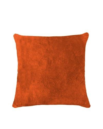 Natural Brand Torino Cowhide Pillow, Orange