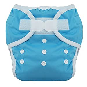 Thirsties Duo Diaper, Ocean Blue, Size Two (18-40 lbs) (Discontinued by Manufacturer)