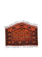 Eden Carpets Alfombra Ersari Rojo/Azul 118 x 83 cm