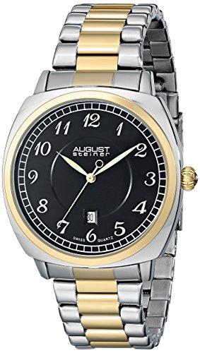 August Steiner Men's 42.5mm Multicolor Steel Bracelet Metal Case Watch AS8160TTG