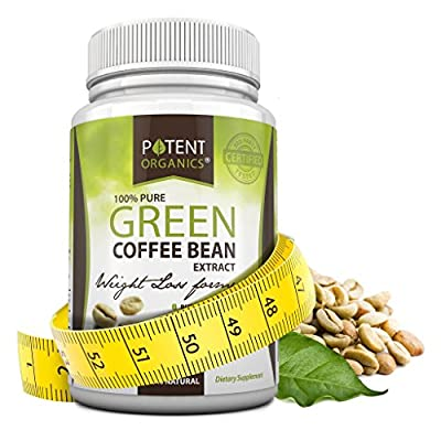 100% Pure Coffee Bean Extract, Potent Weight Loss Formula! High in GCA's, with 50% Chlorogenic Acid. Vegetarian Friendly, No Fillers. 100% Money-Back Guarantee!