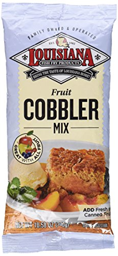 Louisiana Fish Fry Products, Cobbler Mix, 10.58oz Bag (Pack of 3)