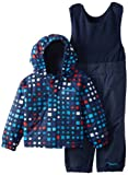 Columbia Unisex-Baby Infant Fresh Pow Bib and Jacket Set