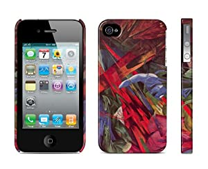 Iphone 4 / 4s Case Animal Destinies (The Trees show their Rings, the Animals their Veins), Franz Marc Cell Phone Cover