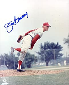 Jim Bunning (HOF Pitcher) Autographed  Original Signed 8x10 Photo Showing Him with... by Original Sports Autographs