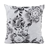 Embrace Cotton Blend Home Decorative Pictorial Snail Floral Printed Sofa Back Throw Pillow Cushion Cover Case Gray