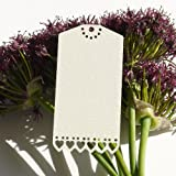 Ivory Sweethearts by Paper Baker Luggage Label Style Name Place Tags....