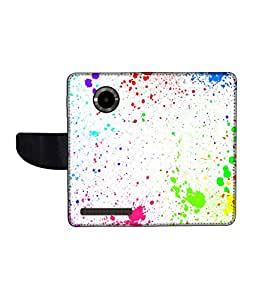 KolorEdge Printed Flip Cover For Micromax Yu YuPhoria Multicolor - (1478-50KeMLogo12367MmxYuPhoria)