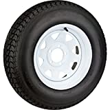 "15"" White Spoke Trailer Wheel with Bias St205/75d15 Tire Mounted (5x5) Bolt Circle"