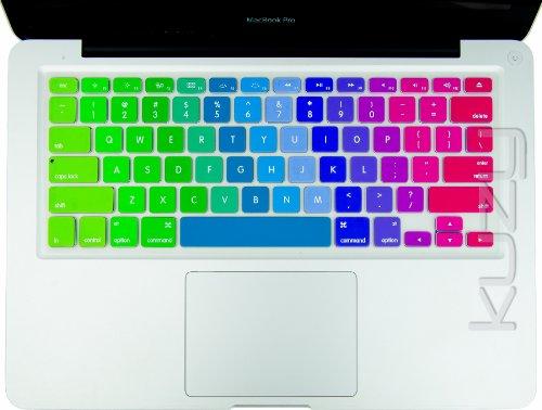 $$  Kuzy - Newest Rainbow Keyboard Cover Silicone Skin for MacBook Pro 13