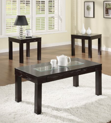 Image of COFEE END TABLE DEHNEM COLLECTION 3 PIECE SET (B008W1G8NC)