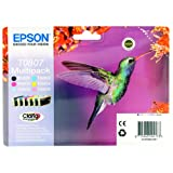 Epson Multipack T0807- Cartouche d&#39;encre d&#39;origine 1 x noir, jaune, cyan, magenta, magenta clair, cyan clairpar Epson