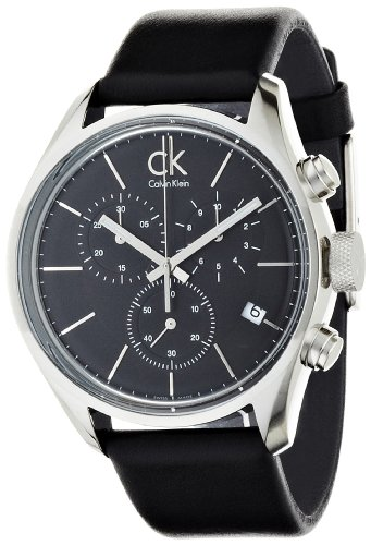 Calvin Klein Men's Quartz Watch K2H27102 with Leather Strap