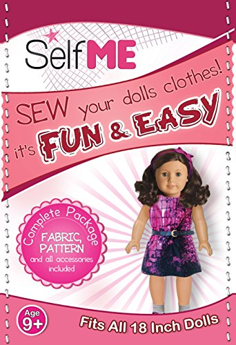 18 INCH DOLL CLOTHES, KIDS SEWING PROJECT KIT, FOR THE LITTLE FASHION DESIGNER, FABRIC and PATTERN, FITS AMERICAN GIRL DOLL (American Doll Sewing Kit compare prices)