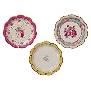 Vintage Style Cake Paper Plates (12 pack)