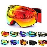 GANZTON Copozz Skibrille Snowboard Brille Doppel-Objektiv UV-Schutz Anti-Fog Skibrille Für Damen Und Herren Jungen Und Mädchen
