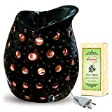 Black Color Electric Aroma Diffuser With Tea Tree Essential Oil - Design 8