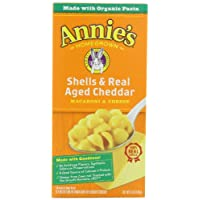 Annie's Homegrown Totally Natural Shells & Real Aged Cheddar Mac & Cheese, 6-Ounce Boxes (Pack of 12)