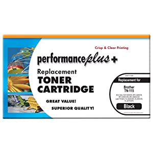 Performance Plus TN 115 Black Compatible Toner for Brother All-in-One Laser Printer Models DCP-9040CN, MFC-9440CN, MFC-9450CDN and MFC-9840CDW