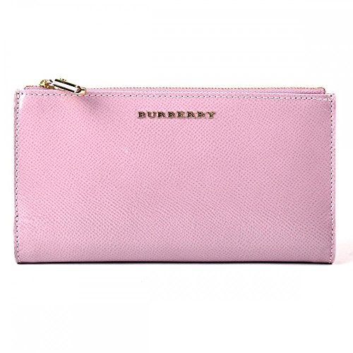 Burberry Patent London Leather Continental Wallet - Pink Heather