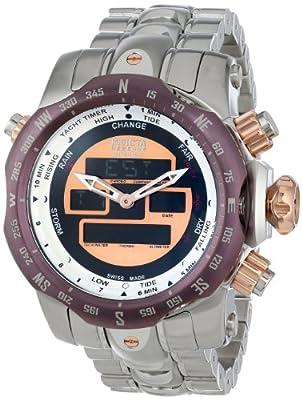Invicta Men's 12587 Venom Analog-Digital Display Swiss Quartz Silver Watch