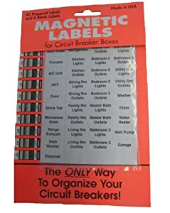 Residential Magnetic Circuit Breaker Labeling Kit