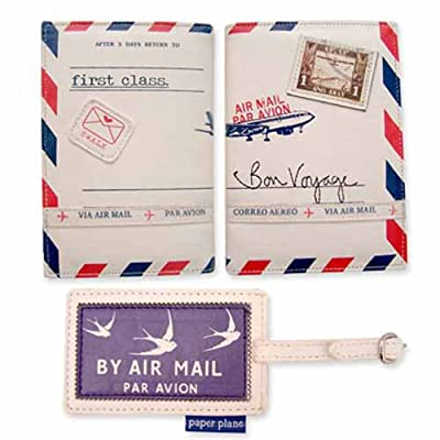 Paper Plane Passport Cover & Luggage Tag Set