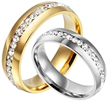 buy Hers & Women'S Ring For Love Titanium 18K White Gold-Plated Wedding Engagement Band 6Mm Us Size 7