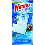 Windex Outdoor All-In-One Pads Refill,2 cleaning pads