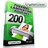 Crystal Clear 200-Pieces Universal Thermal Laminating Pouches