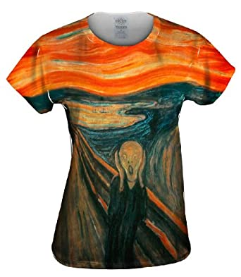 "Yizzam- Edvard Munch - ""The Scream"" (1895) -Tagless- Womens Shirt-X-Small"