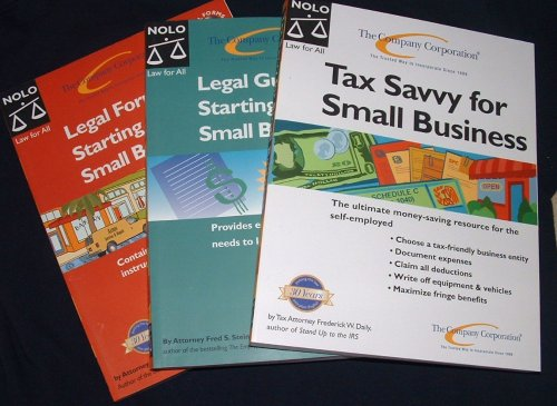 Nolo 3-Book Legal & Tax Reference Library For Small Businesses (The Company Corporation)