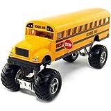 Die cast Monster School Bus 4x4, Die-cast Metal Free Wheeling- 8.5 inches approx..