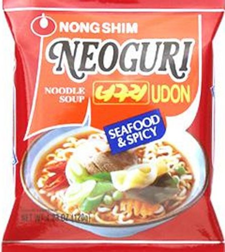 Nongshim Neoguri Udon Noodle Soup Seafood & Spicy 4.23-ounces - Pack of 5
